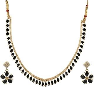 Efulgenz Bridal Crystal Cubic Zirconia Collar Necklace Earrings Jewelry Set for Women Girls Bride Bridesmaids
