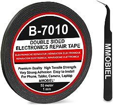 MMOBIEL 1 mm Ruban adhésif Double face puissant Longueur 50m (Noir) pour toutes réparations Smartphones et Tablettes
