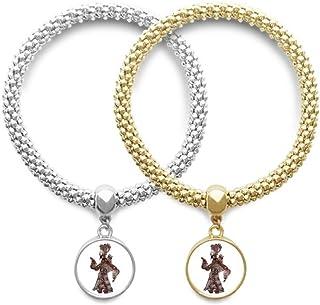 الظل التقليدية اللعب رجل المشي عاشق سوار الإسورة قلادة مجوهرات زوجين سلسلة
