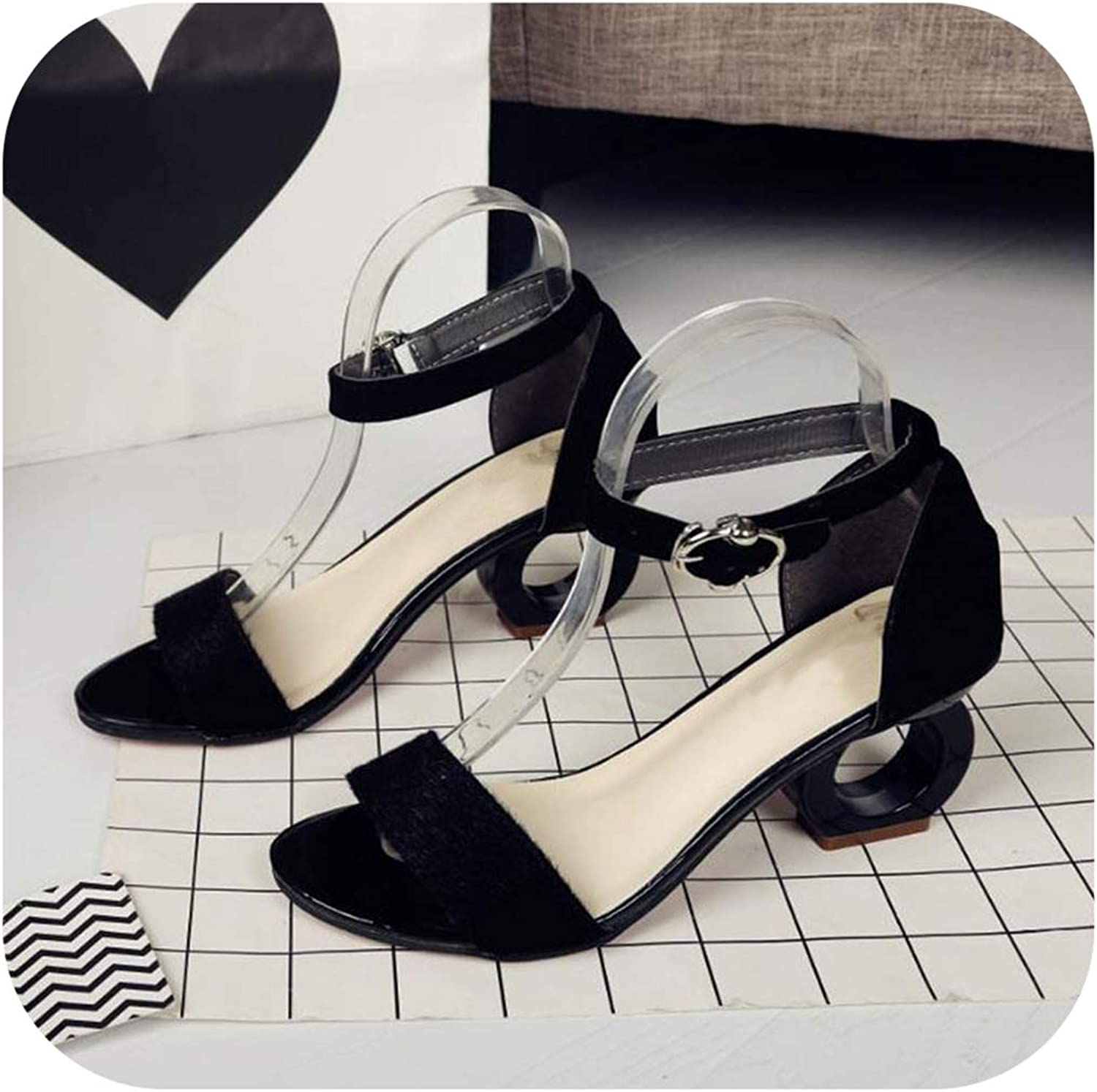 Summer Female coarse high Heel Sandals Personality Sexy Open Toe Sandals Female
