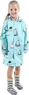 معطف المطر للأطفال معطف المطر كارتون خفيف الوزن ملابس المطر مع غطاء حقيبة مدرسية طفل سترة المطر للأولاد والبنات