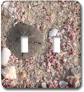 3dRose LSP 164781_ 2foto de dólar de arena y conchas, Playa En Omán, foto por Rhonda Albom doble Toggle Switch