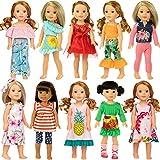 ZITA ELEMENT 10 Sets Vêtements de Poupée pour 36cm 37cm Vêtements de Poupée et 14,5 Pouces American Girl Vêtements Mode Nouveauté