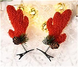 QQRS- Christmas Gifts Children's Hair Clips Christmas Day Hair Accessories Little Girl Cute Hairpin Spring Clips Girls Antlers Headwear (Multiple styles available) (Style : 1#)