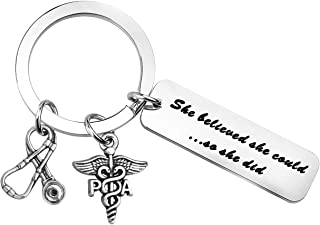 MYOSPARK Physician Assistant Gift She Believed She Could So She Did PA Keychain Medical School Graduation Gift PA Gift