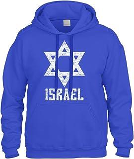 Cybertela White Israel Star Sweatshirt Hoodie Hoody