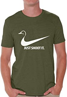 Awkwardstyles Just Shoot It T-Shirt Cool Custom Tee Deer Duck Hunting Shirt