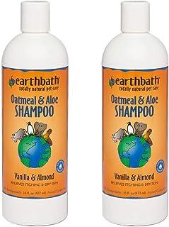 Earthbath Oatmeal & Aloe Pet Shampoo - Vanilla & Almond, Itchy & Dry Skin Relief, Soap-Free, Good for Dogs & Cats, 100% Bi...