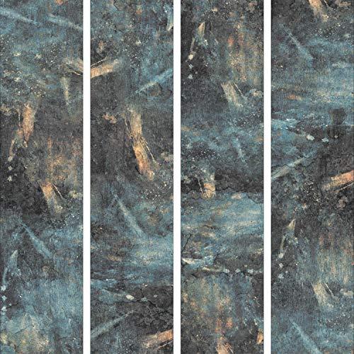 murando - PURO TAPETE - Realistische Tapete ohne Rapport und Versatz 10m Vlies Tapetenrolle Wandtapete modern design Fototapete - Steine Metal Wand f-A-0260-j-c