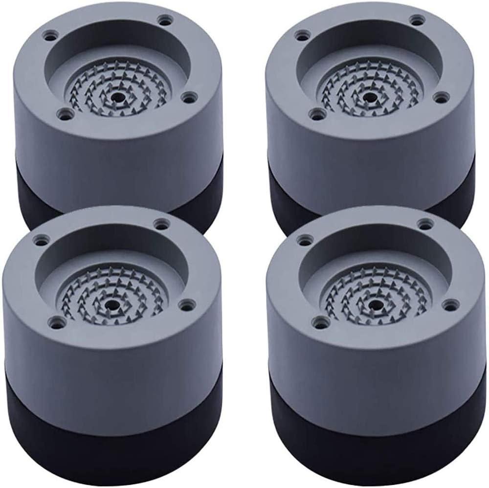 Youery 4 Piezas Amortiguador de Vibraciones para Lavadoras Universal Arandelas Antivibraciones para Lavadora y Secadora,Soporte de Goma Antivibración de Bajo Ruido (gris, 4 cm)