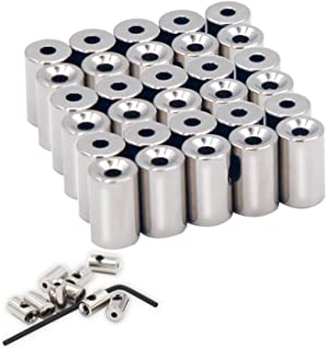 EuTengHao 30 Pieces Pin Keepers Pin Locks Pin Backs Clasp Locking Pin Keeper Backs Locking Pin Backs (9mmx5.5mm,Silver)