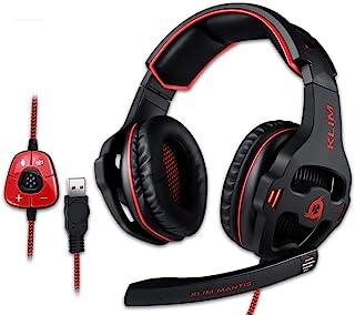 KLIM Mantis - Cascos Gaming con micrófono - Auriculares USB para PC, PS4, PS5, Nintendo Switch, Mac + Sonido Envolvente 7....