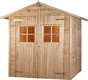 MADEIRA - MADEIRA - Abri de jardin en bois COMBLOUX traité autoclave 3,8 m2 - 12 mm