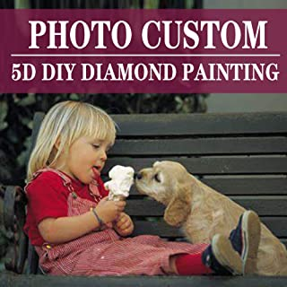Custom Diamond Painting Full Drill Kits for Adults-Personalized Family Photo Wedding Photos Famous Artists Private Custom Your Own Picture-Birthday Gift Home Wall Decor 11.8×11.8 inches