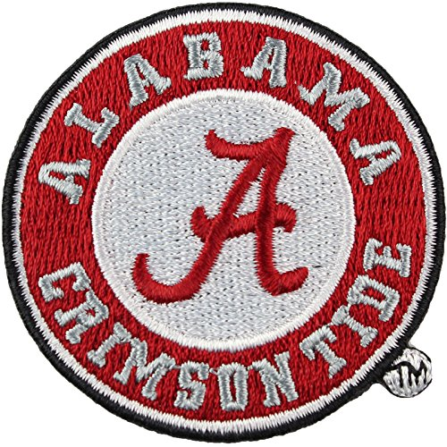 Alabama Crimson Tide Round Logo Iron On Embroidered Patch Large