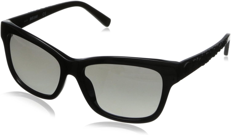 Just Cavalli Women's JC564S5601B Wayfarer Sunglasses,Shiny Black,56 mm