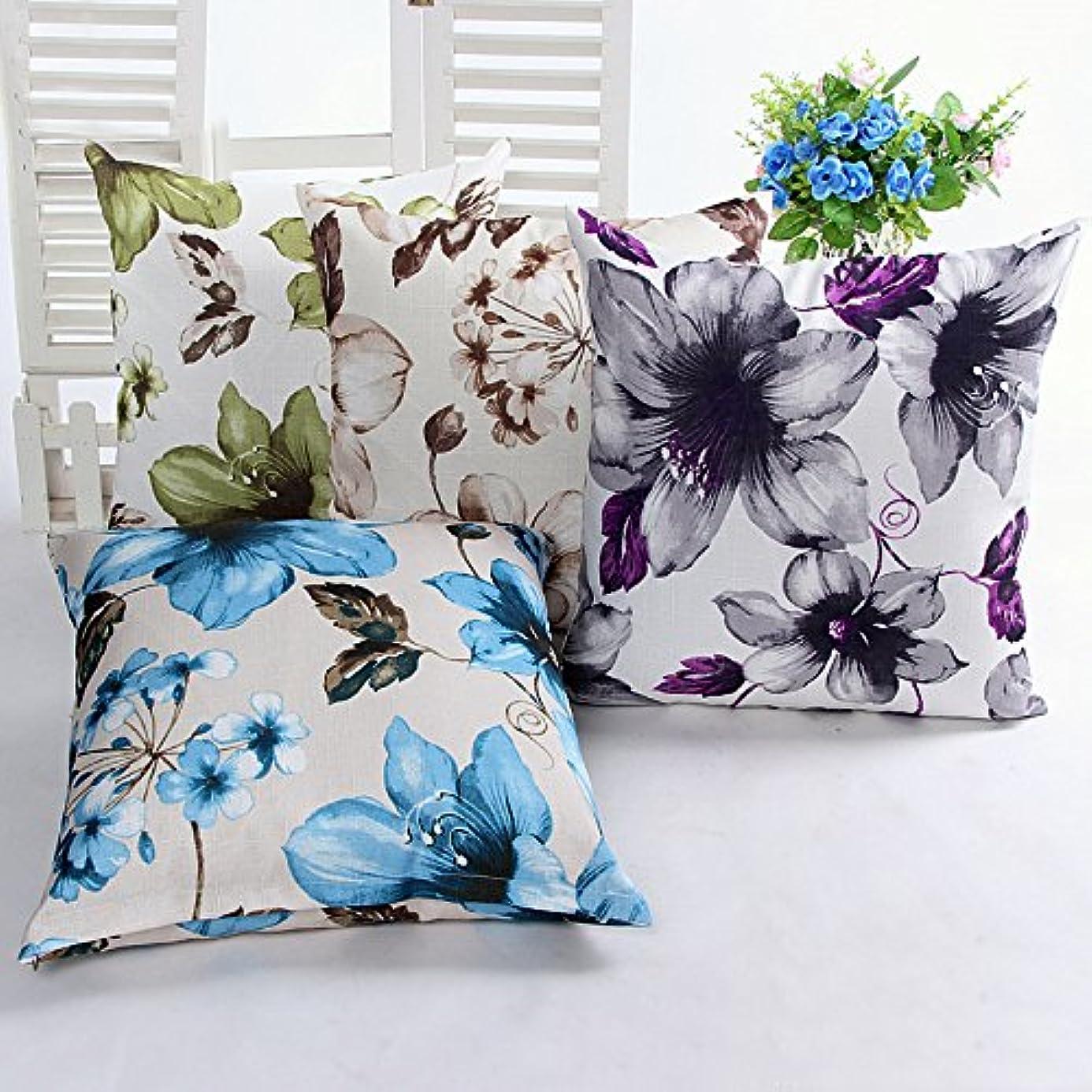 Pillow Cases - Honana Wx-D6 45x45cm Vintage Leaves Flower Bamboo Linen Throw Pillow Waist Cushion Cover - Time Origin Paper Rest Lawsuit Example Event Guinea Pig Pillowcase Sheath Causa - 1PCs