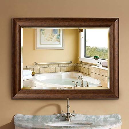 Bathroom Mirror Specchio Da Parete In Legno Di Recupero Rustico 36 X 28 Pollici Grande Specchio Macchiato A Parete Con Decoro Per La Casa Specchio Da Bagno Antisettico Impermeabile Amazon It Casa E
