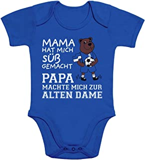 Shirtgeil Herthaner Fan Artikel - Papa machte Mich zur Alten Dame Baby Body Kurzarm-Body