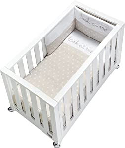 cotinfant Look Me nbsp   nbsp Co-Sleeping Cot 60 nbsp x 120 nbsp cm with Mattress and Textile White Sand