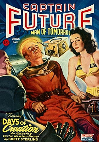 The Poster Corp Vintage Sci Fi Captain Future Man of Tomorrow Kunstdruck (45,72 x 60,96 cm)