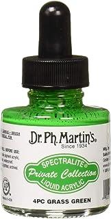 زجاجة طلاء Arcylic من Dr. Ph. Martin's SPEC10OZS4PC Spectralit، مجموعة خاصة من الأكريليك السائل (4 قطع) ، 1. 0 أوقية ، أخض...