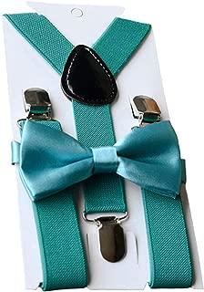 Unisex Kid Boys Girls Adjustable Bow Tie & Suspender Sets