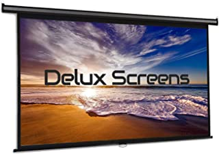"""100"""" Inch Roll Down 16:9 Motorized Electric Projector Screen 8K 4K Ultra HD UHD HDR 3D Ready Wall/Ceiling Mounted with 12V..."""