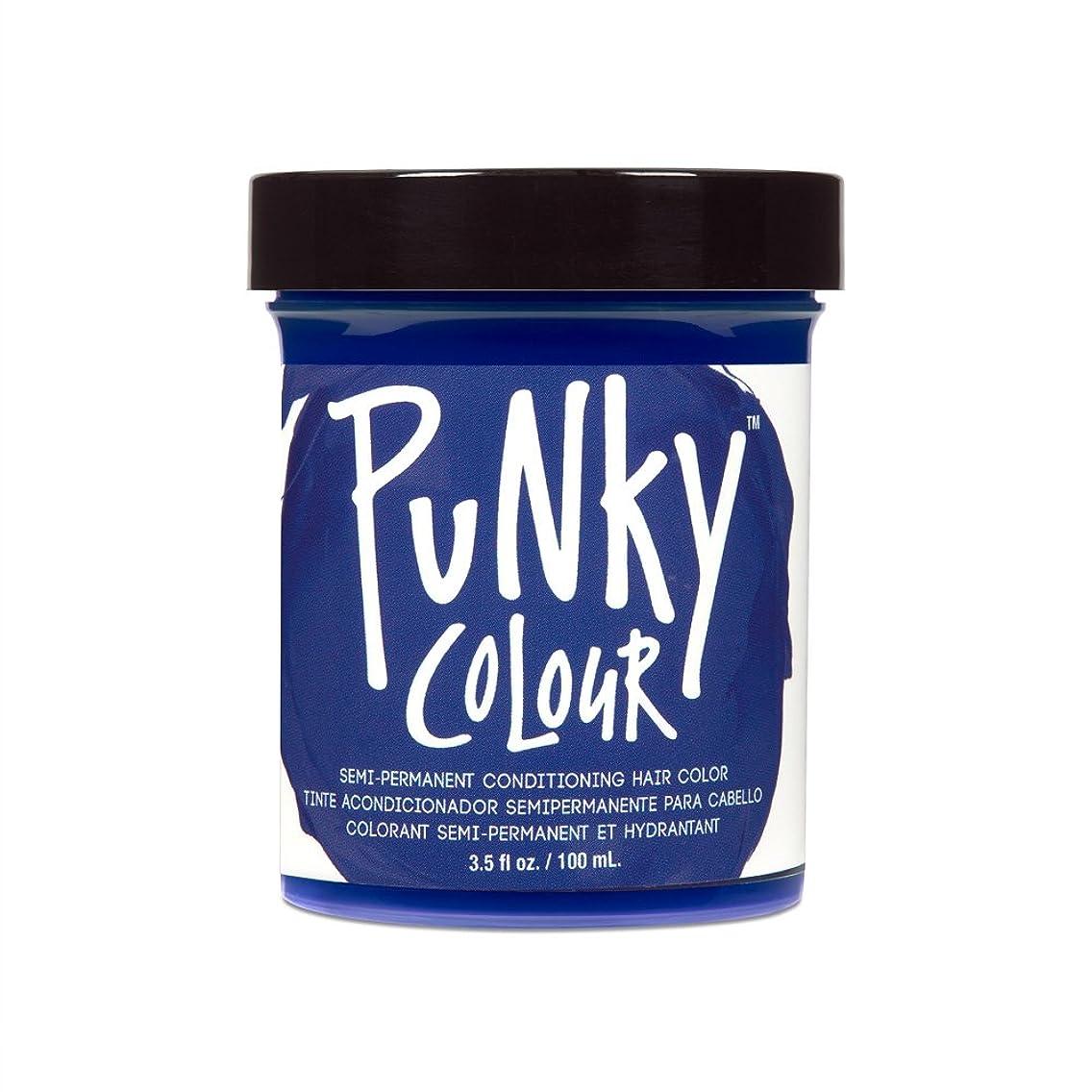 退化する反対に軍艦(3 Pack) JEROME RUSSELL Punky Color Semi-Permanent Conditioning Hair Color - Midnight Blue (並行輸入品)