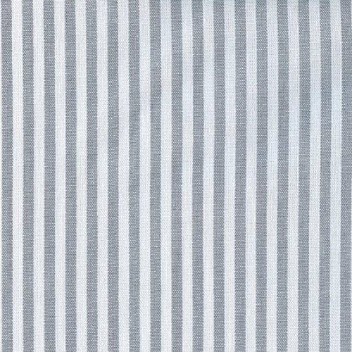 Tela gris y blanco 'Bebé marinero' - raya marina - 100% algodón suave | ancho: 140cm (1 metro)