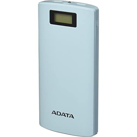 ADATA Powerbank Batería Portatil Color Azul Celeste 20000 mAh con Pantalla Digital (Modelo P20000D)