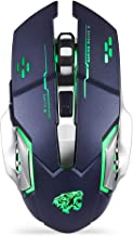 Uciefy Rechargeable Wireless Mouse, 2.4G Ergonomic Silent Gaming Mice Portable Optical with Nano USB Receiver, 3 Adjustabl...