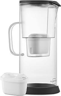 SILBERTHAL Carafe Filtrante en Verre 3 litres - Cartouche Filtrante Inclus - Réduit Le Calcaire - Grande Capacité Eau Filtrée