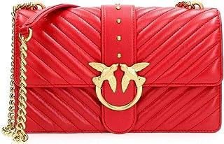 Pinko Bolso Love classic icon 3 bandolera acolchada 1P22BT Y7FY R43 rojo