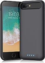 Battery case for iPhone 8 Plus/7 Plus/6 Plus/6s Plus,Xooparc 8500mAh Charging Case Portable Charger Case Rechargeable Exte...