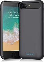 Battery case for iPhone 8 Plus/7 Plus/6 Plus/6s Plus,Xooparc 8500mAh Charging Case Portable Charger Case Rechargeable Extended Battery Pack for 6s Plus/ 6 Plus/ 7 Plus/ 8 Plus(5.5') Backup Power Bank
