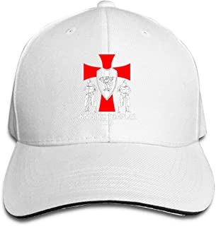 Women&Men Knights Templar 1119 Crusader Deus Trucker Baseball Cap Adjustable Peaked Sandwich Hats