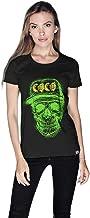 Creo Green Yellow Coco Skull T-Shirt For Women - M
