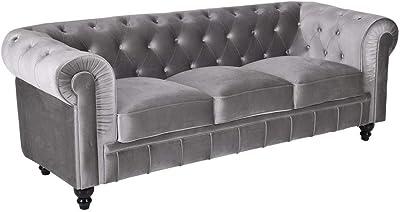 Adec - Chesterfield, Sofa de Tres plazas, Sillon Descanso 3 ...
