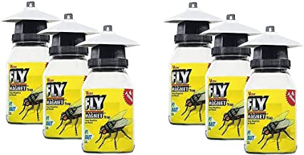 Victor M380 Fly Magnet 1-Quart Reusable Trap With Bait (6 Pack)