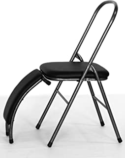 iYoga Chair and Benger by iYogaprops | Yoga Equipment for Home | Foldable Metal Chair with Detachable Backbend Extension |...