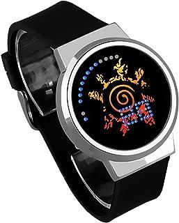 Montres Homme,Écran Tactile LED Montre Naruto Anime Entourant Ruban Lumineux Étanche Montre Électronique Cadeau Créatif d'...