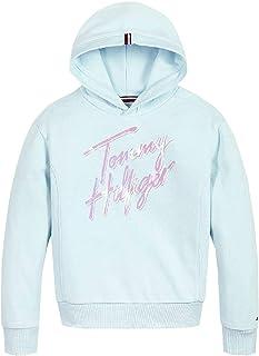 Tommy Hilfiger KG0KG05891 Cut Frost Sweat-shirt à capuche pour fille Bleu