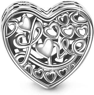 Mariposas Colores Mujer Corazón Abalorio Charm, Plata de Ley 925, Compatible con la Pulsera de Charms, Envases de Regalo, Cada Momento Especial