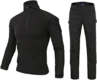 DXdesign Tactical 1/4 Zip Combat Long Sleeve 2 Choice of T-Shirt/Set Slim Fit Hunting Military Uniform Dry Quick
