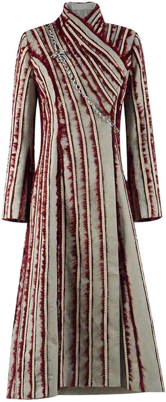 Qi Pao Womens Queen Daenerys Plush Ou 2021 autumn and winter new Halloween Coat Milwaukee Mall White