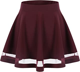 Wedtrend Women's Basic Versatile Stretchy A-line Flared Mini Skirt