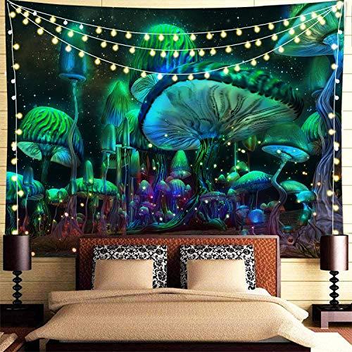 KHKJ Tapiz de Seta psicodélico cabecero de Pared Arte Colcha Dormitorio Tapiz para Sala de Estar Dormitorio decoración del hogar A5 150x130cm