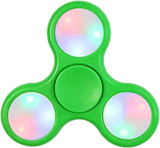 Wrapables LED Fidget Spinner Toy to Relieve Anxiety Stress and Boredom, Green