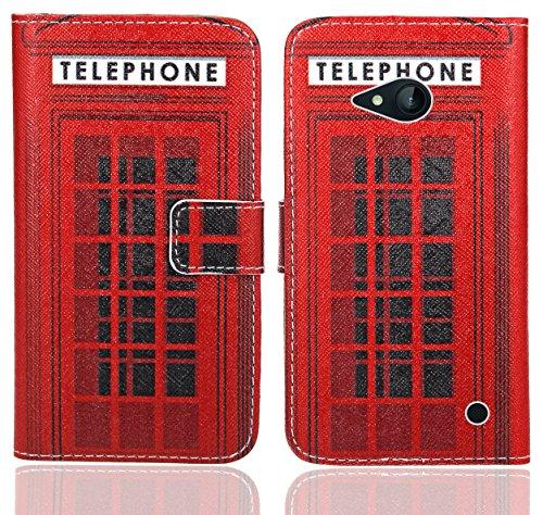 FoneExpert® Nokia Lumia 735 730 Handy Tasche, Wallet Hülle Flip Cover Hüllen Etui Ledertasche Lederhülle Premium Schutzhülle für Nokia Lumia 735 730 (Pattern 12)